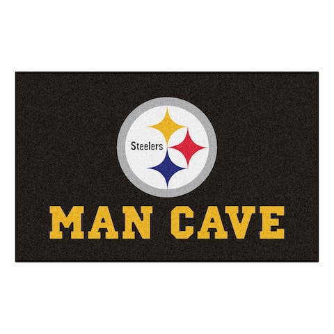 NFL - Pittsburgh Steelers Man Cave Rug - 5ft. x 8 ft. - 5' x 8'/Surplus