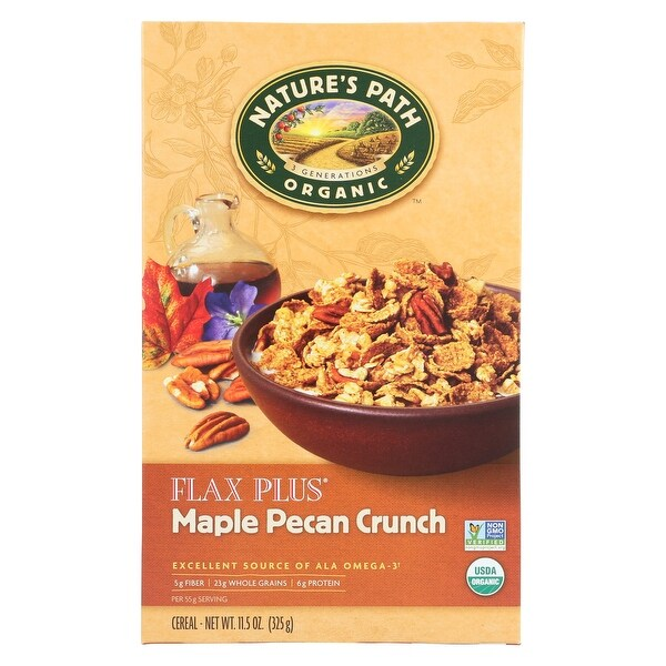 Nature's Path Maple Pecan Crunch - Flax Plus - Case of 12 - 11.5 oz.