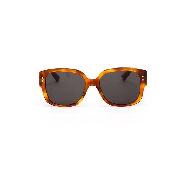 c88fe5019ecea Shop Dior Ladydiorstuds Women s Plastic Sunglasses - LIGHT BROWN ...