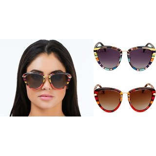 PRIVÉ REVAUX ICON Collection The Monet Handcrafted Designer Polarized Cat-Eye Sunglasses