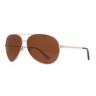 TOM FORD Aviator Charles TF35 Unisex 28H Rose Gold Brown Sunglasses - 62mm-12mm-130mm