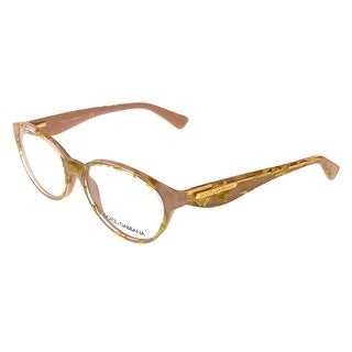 Dolce & Gabbana DG3173 2749 (51) Leaf Gold Rose Oval Opticals - 51-17-135