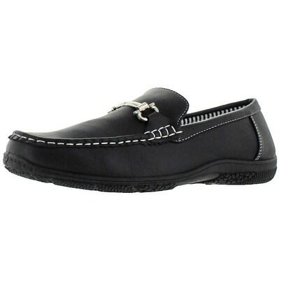 Revenant Men's Designer Buckle Moc Toe Slip On Loafers Shoes Driving Moccasins