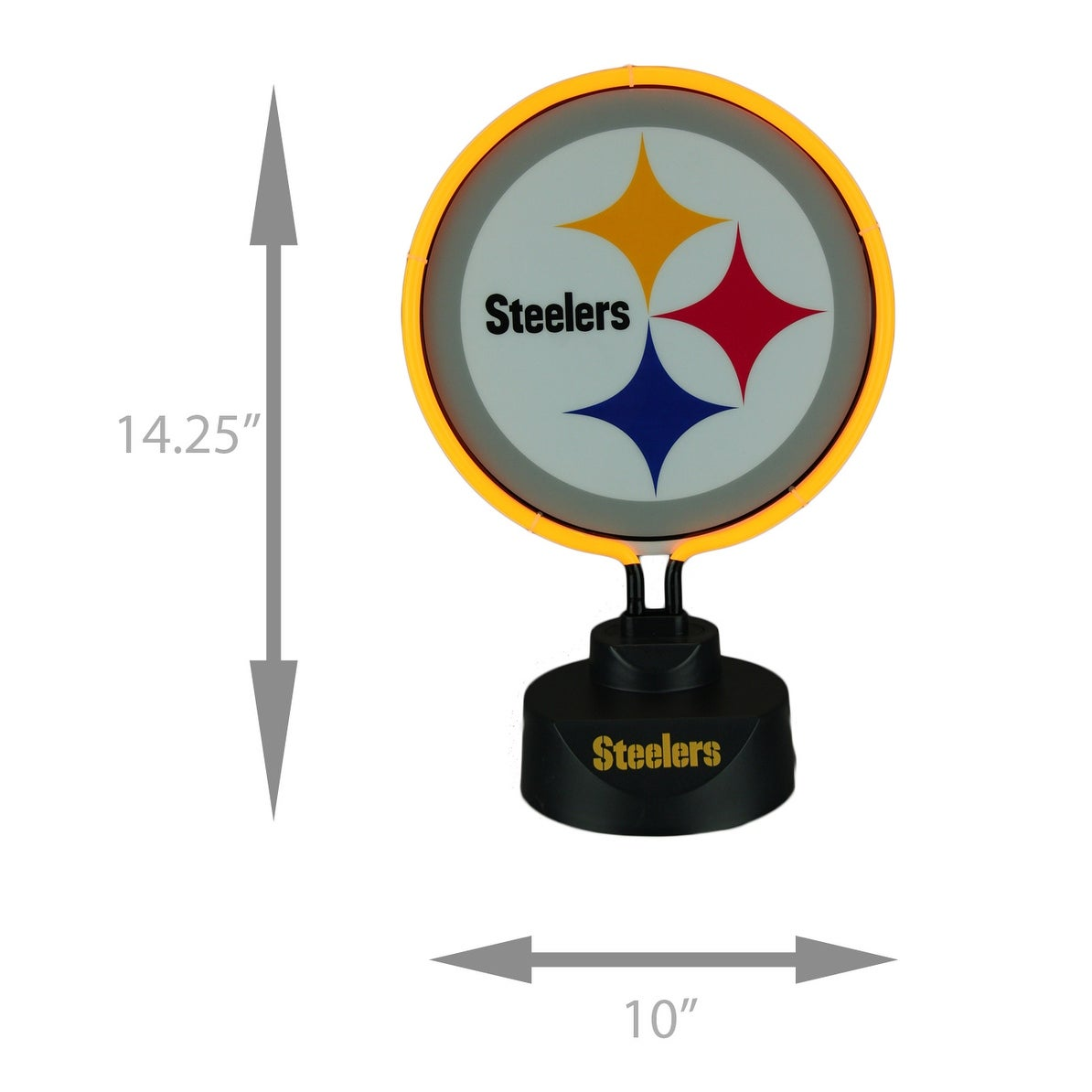 Shop Pittsburgh Steelers Logo Neon Tabletop Statue Accent Lamp Yellow Overstock 21951295
