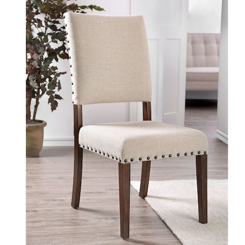 Furniture of America Verdorn Transitional Ivory Side Chair Set of 2