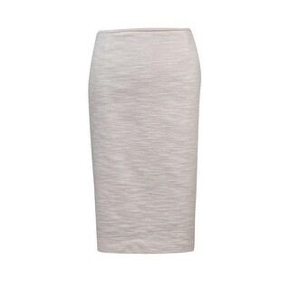 Calvin Klein Women's Tweed Vented Pencil Skirt - 12