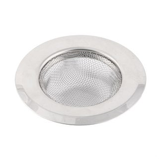 Kitchen Stainless Steel Wide Brim Basin Drain Sink Mesh Strainer 9cm Outer Dia