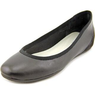 Tahari Aukland Women Round Toe Leather Black Flats