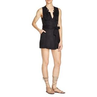Danny Amp Nicole Women S Black White Tweed Surplice Wrap