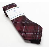 Ryan Seacrest Distinction Red Studio Plaid Men's Silk Neck Tie