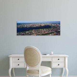 Easy Art Prints Panoramic Image 'View of a cityscape, Back Bay, Cambridge, Boston, Massachusetts, USA' Canvas Art