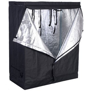 Costway Indoor Grow Tent Room Reflective Hydroponic Non Toxic Clone Hut 6 Size (48''X24''X60'')