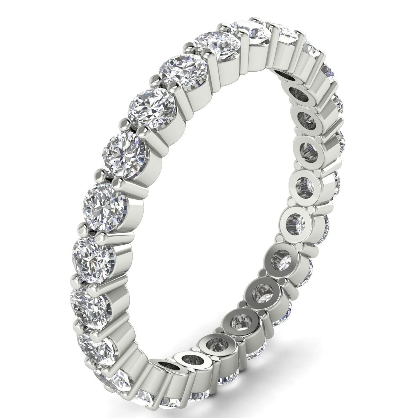 It is just a graphic of 38.38 CT Shared Prong Round Cut Diamond Eternity Wedding Band in 384KT
