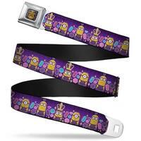 King Bob Full Color Purple Gold Royal British Invasion 3 Minions Jewels Seatbelt Belt