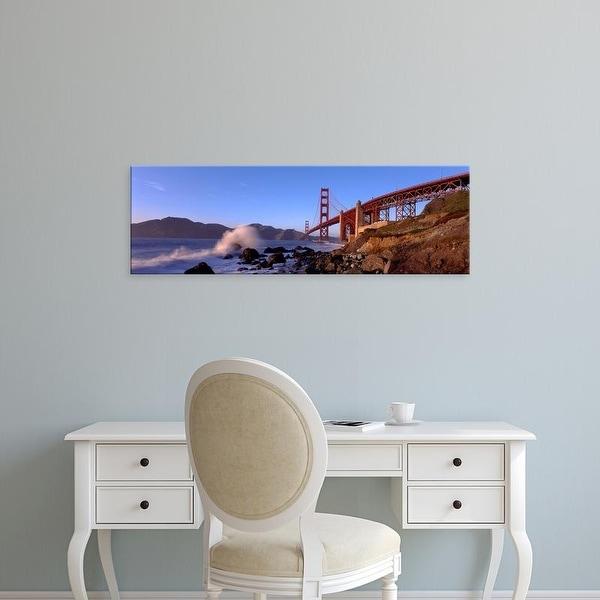 Easy Art Prints Panoramic Images's 'San Francisco Bay, Golden Gate Bridge, San Francisco, Marin, California' Canvas Art