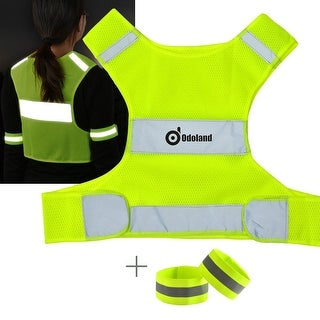 Reflective Running Cycling Vest Mesh Safety Vest w/ Reflective Tape Arm Band for Size S M