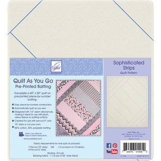 Quilt As You Go Printed Quilt Blocks On Batting-Sophisticated Strips