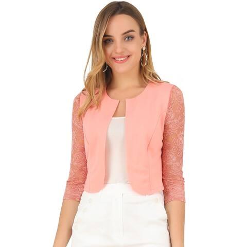 Women Lace Long Sleeve Top Cardigan