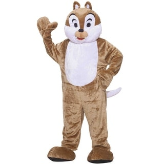 Forum Novelties Deluxe Plush Chipmunk Mascot Adult Costume - Brown - Standard