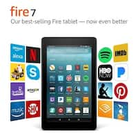 "Amazon Fire 7 Tablet with Alexa, 7"" Display, 8 GB, Black - with Special Offers"