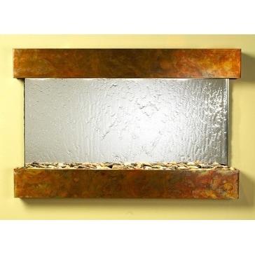 Adagio Sunrise Springs Wall Fountain Silver Mirror Rustic Copper - SSS1040