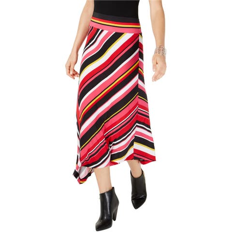I-N-C Womens Striped Maxi Skirt, Multicoloured, Small