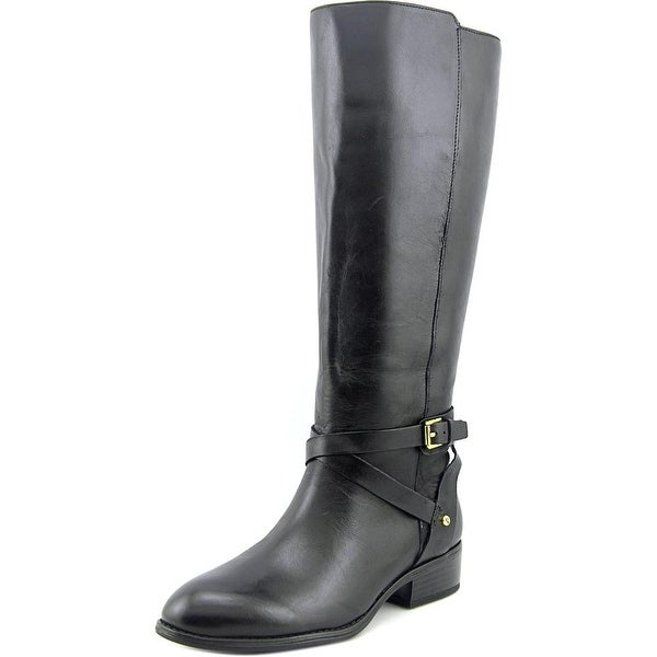 Lauren Ralph Lauren Mariah Women Round Toe Leather Black Knee High Boot