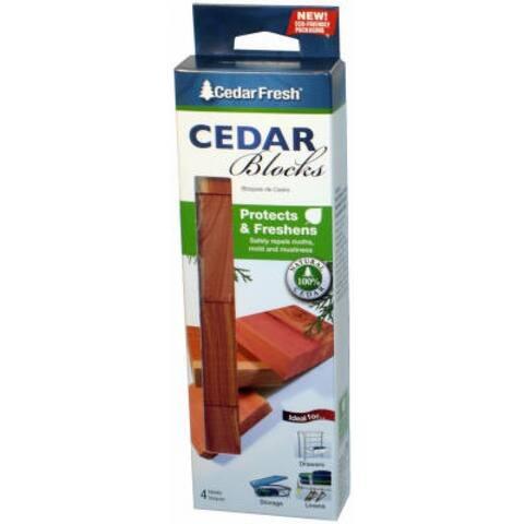 4 Count Large Size Cedar Block