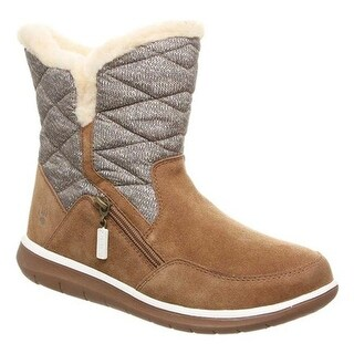 Bearpaw Women's Katy Ankle Boot Hickory II Suede/Nylon