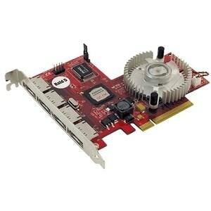 Addonics ADSA3GPX8-4E Addonics 4 Port eSATA II RAID Controller - PCI Express x8 - Up to 300MBps Per Port - 4 x 7-pin eSATA -