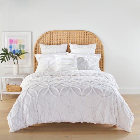 Trina Turk Breeze Block Geo White Comforter Set