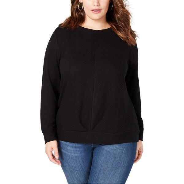 I-N-C Womens Pleated Sweatshirt. Opens flyout.