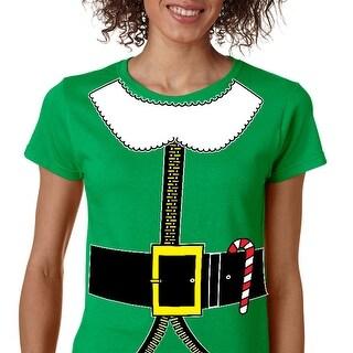 Women's T Shirt Elf Suit Santa's Elves Christmas Tee Xmas Gift