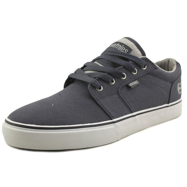 Etnies Barge LS Men Round Toe Canvas Gray Skate Shoe