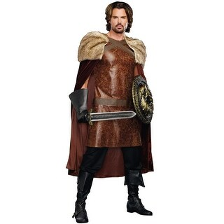 Dreamgirl Dragon Warrior King Adult Costume - Brown