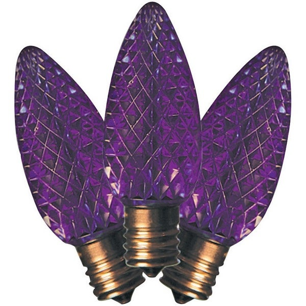 Holiday Bright Lights BU25LEDFC9-TPLA C9 LED Christmas Replacement Bulb, Purple