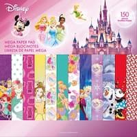 "Disney Single-Sided Mega Paper Pad 12""X12"" 150/Pkg-Girl 2, 50 Designs/3 Each"