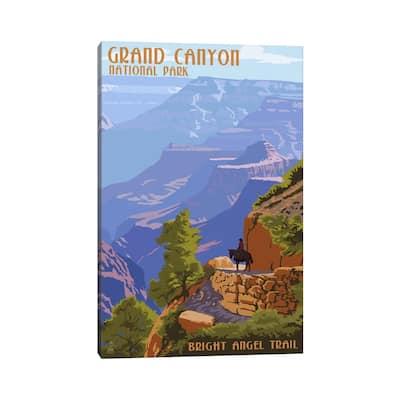 "iCanvas ""Grand Canyon National Park (Bright Angel Trail)"" by Lantern Press Canvas Print"