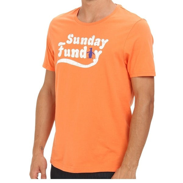2eaa443f4 Shop Original Penguin NEW Orange Sunday Funday Mens Size XL Graphic Tee  Cotton - Free Shipping On Orders Over $45 - Overstock - 19529954