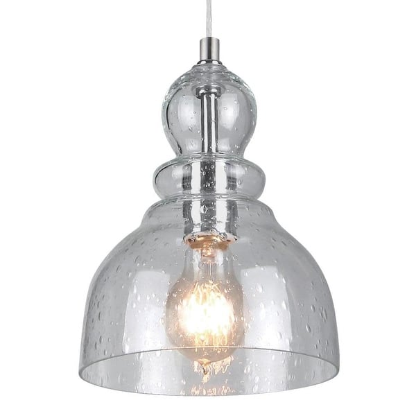 Westinghouse 61007 Single Light 7 Mini Pendant With Seeded Glass Brushed Nickel Overstock 25649758