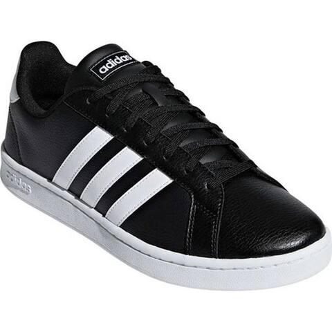 adidas Men's Grand Court Sneaker Core Black/FTWR White/FTWR White