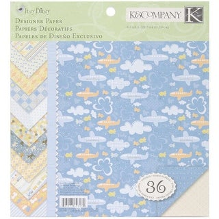 """Simply K Itsy Bitsy Double Sided Paper Pad 8.5""""X8.5""""-Baby Boy 36 Sheets; 3 Each/12 Designs"""