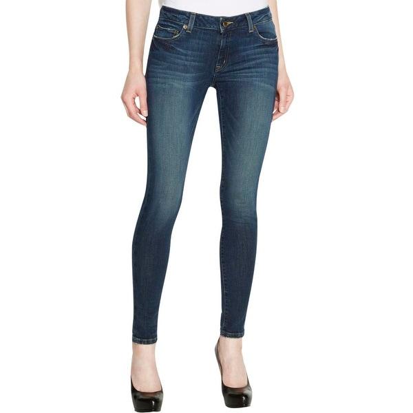 Michael Kors Womens Skinny Jeans Denim Faded