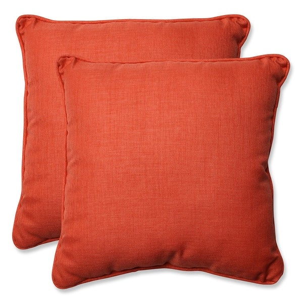 "Set of 2 Pillow perfect rave coral square throw pillow 18.5"" H x 18.5""W"