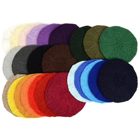 Women's Soft Lightweight Knitted Beret Hat