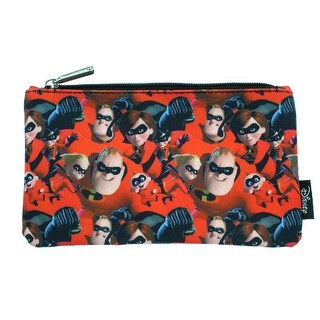 Disney Pixar Incredibles 2 Pencil Case Pouch Holder Allover Print - One Size Fits most