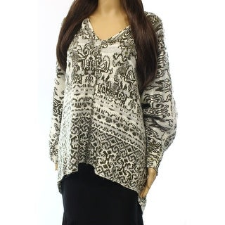 Free People NEW Beige Women's Size Medium M Knit Hooded Sweater