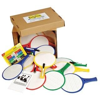 Kleenslate Round Classroom Kit Set 24 Paddles