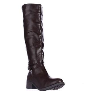 Rampage Imelda Knee-High Riding Boots - Brown