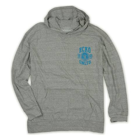 Ecko Unltd. Mens Colorblock Hoodie Sweatshirt, Grey, X-Small
